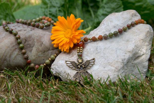 Unakit og rudraksha mala - ærkeenglen Raphael