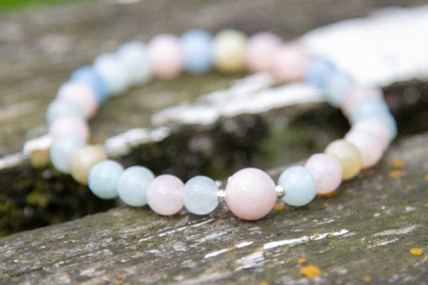 Simple Morganite Mala Bracelet